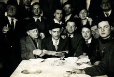 Passover Seder 1942 at Pithiviers detention camp in France. The photo was submitted by the son of Wolf Slucki who was deported from Pithiviers to Auschwitz on 25 June 1942