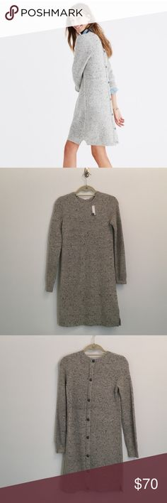 Madewell Button Back Sweater Dress Brand new with tags! A cozy sweater-dress with buttons all the way down the back. For best results, pair with your favorite sneaks or ankle boots. Madewell Dresses