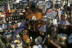 Bermondsey Antique Market, London...arrived at 4 AM to get best deals....when dealers are there....