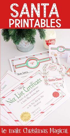 Santa Printables to Make Christmas Magical for Kids Christmas Labels, Christmas Eve Box, Christmas Printables, All Things Christmas, Family Christmas, Christmas Parties, Christmas Treats, Christmas 2019, Xmas
