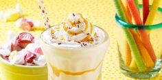 Caramel Banana Malt Shake - Make your next milk shake with bananas, and Marzetti's Old Fashioned Caramel Apple Dip with vanilla or chocolate ice cream. #Milkshake #banana #drink #MarzettiRecipes #spon