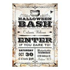 Spooky Vintage Halloween Party Invitation