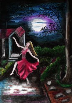 Moon Dance, Dance Art, Moonlight, Evans, Mystic, Most Beautiful, My Arts, Cat, Drawings