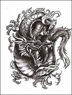 "Classic: Dragon Temporaray Tattoo by Tattoo Fun. $3.95. This is a Temporary tattoo of a black and white Chinese dragon. It measures approx 3"" long x 2"" wide."