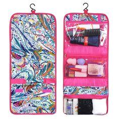 Zodaca Travel Hanging Cosmetic Toiletry Carry Bag Wash Organizer Storage