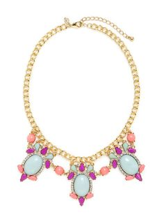 Geometric Bib Necklace by Cara Couture Jewelry