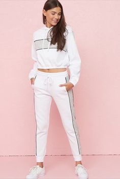 High Rise Girlfriend Jogger With Colourblocking Polo Outfits For Women, Lazy Day Outfits, Sporty Outfits, Cute Outfits For Kids, Kpop Outfits, Pants For Women, Fashion Outfits, Clothes For Women, Garage Clothing