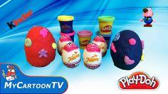 Play Doh frozen kinder surprise egg Girlfriend Peppa Pig Luntik Unboxing