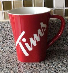 Tim Hortons Limited Edition Coffee Mug Cup Red Logo 013 2013 Tim's Tim Hortons Coffee, Coffee Shop, Coffee Mugs, Red Logo, Mug Cup, Tequila, Powder Coating, Tea, Acrylic Paintings