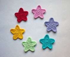 Star Applique PDF Crochet Pattern Instant by oneandtwocompany