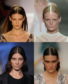 Stylists kept models' hair clean and chic at #NYFW with dead-center hair partings