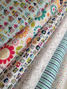 Snapshots fabric bundle by Riley Blake Fabrics-Fat Quarter Bundle- 6 total on Etsy, $18.00