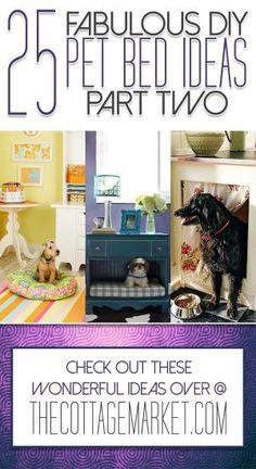 25 Fabulous DIY Pet Bed Ideas …part 2 by amelia