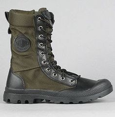 Palladium The Pampa Tactical Boot in Olive Drab & Black
