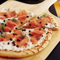 Smoked Salmon Pizza | http://www.rachaelraymag.com/Recipes/rachael-ray-magazine-recipe-search/appetizer-starter-recipes/smoked-salmon-pizza?esrc=nwdr042812pinc