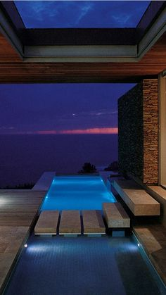 Stock Tank Swimming Pool Ideas, Get Swimming pool designs featuring new swimming pool ideas like glass wall swimming pools, infinity swimming pools, indoor pools and Mid Century Modern Pools. Find and save ideas about Swimming pool designs. Piscina Interior, Moderne Pools, Luxury Pools, Dream Pools, Beautiful Pools, Cool Pools, Pool Designs, Outdoor Pool, My Dream Home