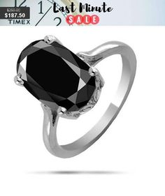 3ct,4ct,5ct, Oval Shape Black Diamond Solitaire #jewelry #ring @EtsyMktgTool #gemtonering #sterlingsilverring #cocktailring #blackdiamond Wow 2, Diamond Solitaire Rings, Cocktail Rings, Black Diamond, Sterling Silver Rings, Wedding Rings, Oval Shape, Engagement Rings, Trending Outfits