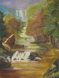"""Saatchi Art Artist BOBBY FERRAO; Painting, """"MOUNTAIN SCENERY"""" #art"""
