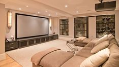 Home theater room ideas simple elegant and affordable home cinema room ideas small theater seating patio . Home Theater Basement, Home Theater Room Design, Home Cinema Room, At Home Movie Theater, Home Theater Rooms, Home Theater Seating, Basement Ideas, Basement Bars, Basement Renovations
