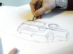 BMW 1 Series design sketch by Nicolas Huet