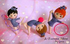 Eu Amo Artesanato: Bonecas ginastas de feltro com moldes                                                                                                                                                                                 Mais