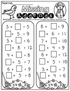 Number Bonds Worksheets. Great for teachers using