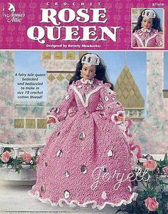 Rose Queen, Annie's crochet patterns fit Barbie dolls