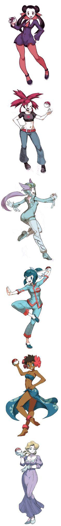Pokemon Gym Leaders for ORAS... Pokemon girls