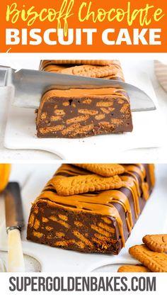 Chocolate Biscuit Recipe, Chocolate Fridge Cake, Chocolate Biscuits, Delicious Chocolate Cake, Fun Baking Recipes, Sweet Recipes, Cake Recipes, Dessert Recipes, Easy No Bake Desserts