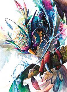 사고발상 Art And Illustration, Illustrations And Posters, Watercolor Paintings Of Animals, Watercolor Art, Anime Drawings Sketches, Art Drawings, Doodle Art, Amazing Street Art, Ad Art