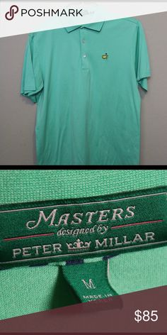 19844a9a2516 Peter Millar Crown Masters Polo Mens Medium EUC! Peter Millar Crown Masters  Polo Augusta National
