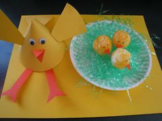 Seven Sisters: Mama and Baby Chick Craft....and How to Dye a Cotton Ball!
