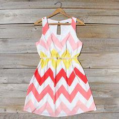 Indian Summer Chevron Dress, Sweet Women's Summer  ($27.20)