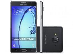 "Smartphone Samsung Galaxy On 7 8GB Preto Dual Chip - 4G Câm. 13MP + Selfie 5MP Tela 5.5"" Quad Core"