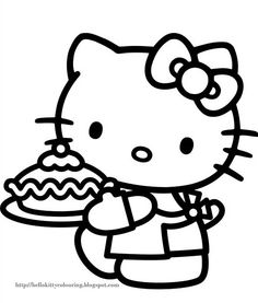 hello kitty coloring pages free printable. When we first heard Hello Kitty, the first one that occurred in our minds was a cute cat character that was very adorable. Many children and adults li. Hello Kitty Colouring Pages, Cartoon Coloring Pages, Coloring Pages For Kids, Coloring Books, Images Hello Kitty, Hello Kitty Fotos, Hello Kitty Natal, Chat Hello Kitty, Hello Kitty Desenho