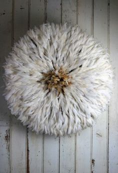 JuJu Hat Feather Wall Hanging - Cream Natural Three of these behind the bed-lush