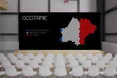 METROPOLITAN DEVELOPMENT Digital designs created for the 50th Meeting of the Metropolitan Development Committee in Toulouse, France. The hexagon, inspired by the shape of the country, is the central piece. The unique font that we created specifically for this event was also drawn after a hexagonal shape.