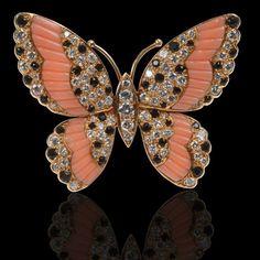 René Lalique Paris. Art Nouveau, c1895. Beautiful and rare enamel and diamond butterfly brooch - A.lain R. T.ruong