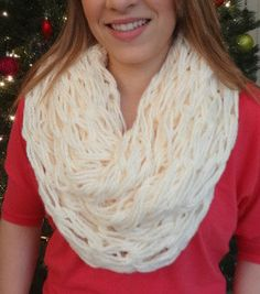 SUPER SOFT arm knit infinity scarf!