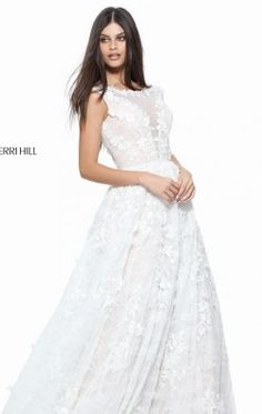 59a293f0eca8 Lace Ball Gown by Sherri Hill 51099 Lace Ball Gowns