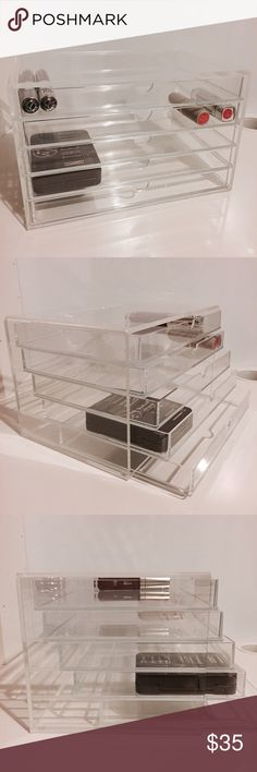 Authentic Muji Brand Acrylic Five Drawer Unit