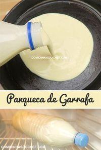 Panqueca de Garrafa - Food for skoooool Spaß lol ❤️❤️❤️ - Delicious Pancakes No Salt Recipes, Sweet Recipes, Cooking Recipes, I Love Food, Good Food, Yummy Food, Menu Café, Confort Food, Pancakes And Waffles