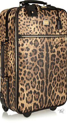 Dolce & Gabbana ● leopard-print travel trolley