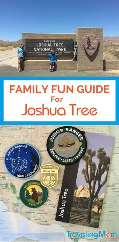 Joshua Tree National Park offers a family-friendly California road trip detour through two different types of deserts. The kids can earn some National Park Service Junior Ranger badges and patches too.