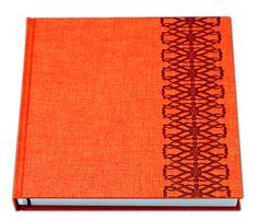 Linen Orange cover with Celtic Designer Emboss in Metallic Red foil Photo Books, Emboss, Celtic, Stationery, Metallic, Album, Orange, Cover, Artist