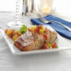 Grilled Salmon With Citrus-Tomato Salsa