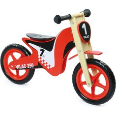 Vilac Balance Bike Cross Toddler/Child Ride-On Toy Training Learning Wood for sale online Color Race, Motocross Bikes, Balance Bike, Ride On Toys, Gross Motor Skills, Preschool Toys, Car Wheels, Bike Design, Tricycle