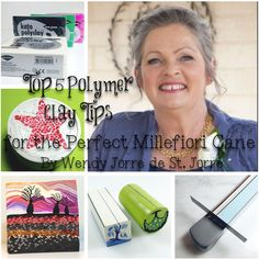 Top 5 Polymer Clay Tips to a Perfect Cane by Wendy Jorre de St Jorre. Good blog for those serious about polymer clay.