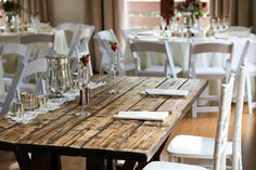 We love how the couple had a different sweetheart table and chairs different from the rest of the reception. It's a great way to have the design elements you love without hurting your wallet!