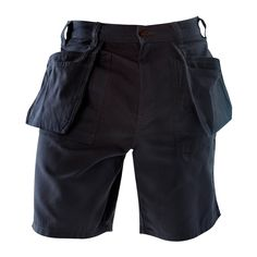 Blaklader 1634 Work Shorts - Steel Blue - Smooth comfortable 11 oz. cotton delivers high performance durability. All the functions of the carpenter pant with the added durability of Cordura lined pockets. | FullSource.com